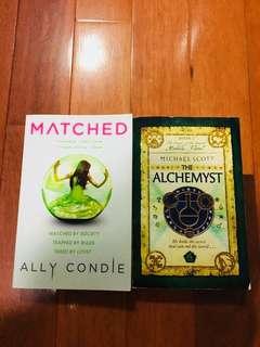 Matched- Ally Condie, The Alchemyst- Micheal Scott