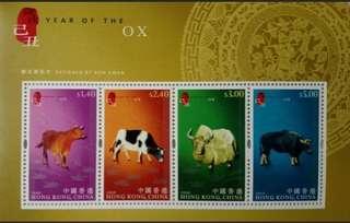 牛年生肖郵票小全張