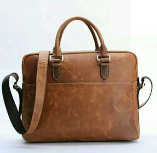 Tas Kulit Selempang Bags Laptop 14'n Casual Fashion WZ.021