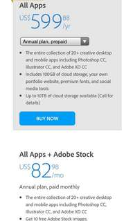 🚚 Adobe creative cloud 1 Year subscription