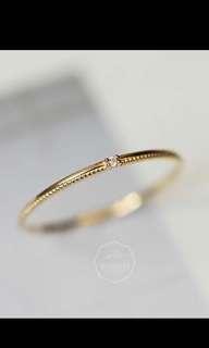 14K黃金簡約閃鑽戒指