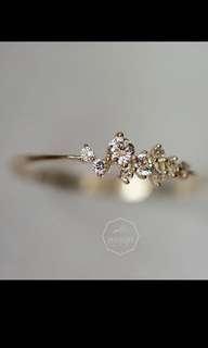 14K黃金繁星閃鑽戒指