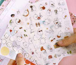 Molang sticker sheet