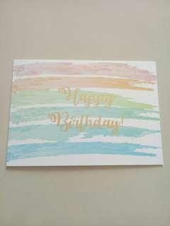Birthday card kartu ulang tahun