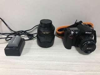 DSLR Nikon D90+kit lens 18-105mm+ 50mm F1.8+ battery+charger