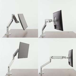 "(520) Bestand Monitor Arm Mount-Upgraded Version, Bestand Vesa Desk Mount Stand for LCD LED Computer Screen up to 27"", (Single Monitor Arm, Grey)"