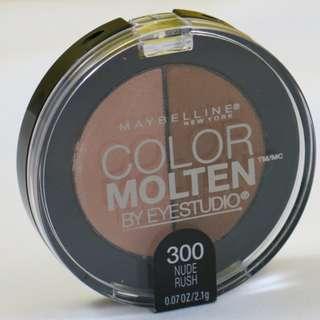 New Maybelline Color Molten Eye Studio Duo Eye Shadow-300 Nude