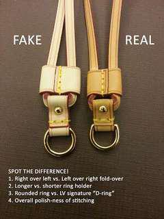 Louis Vuitton fake vs real,, be a smart buyer!