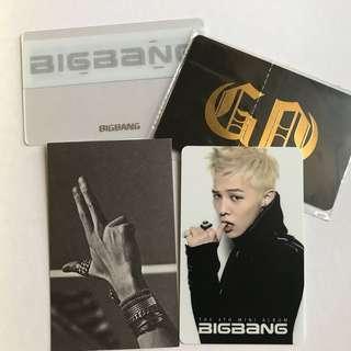 Bigbang G-Dragon GD 小卡