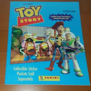 Vintage COLLECTIBLE Disney's Toy Story STICKER ALBUM Story Book
