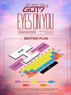 ( LF / WTB ) Got7 in Singapore x2 Seated Tickets