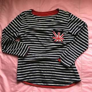 Dark Blue and Red UK Striped Sweatshirt