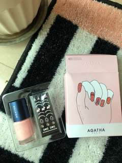 BN Agatha Nail Varnish Set With stickers
