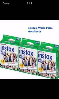 Fujifilm instant wide film 60sheets