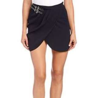 The Kooples Drape Tulip Skirt with leather side buckles XS