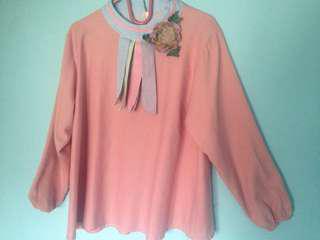 Baju Atasan Panjang Pink Salmon