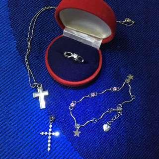 Chain, Cross,Bracelet,ring