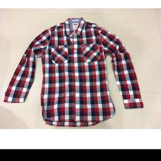 🚚 Levis 配色格紋長袖襯衫