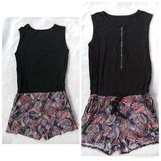 Floral black jumpsuit