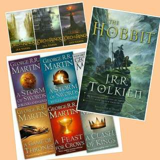 Ebook: George R.R. Martin & J.R.R. Tolkien The Game of Thrones The Lord Of the Rings The Hobbit and other books!