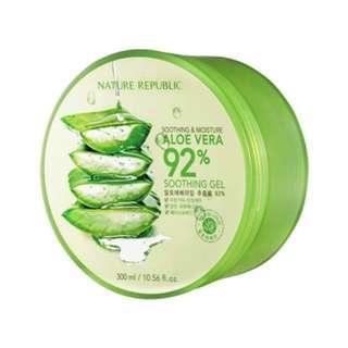 ORIGINAL nature republic aloe vera 92% soothing aloe gel