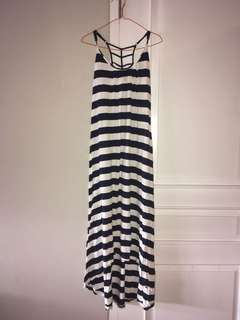 Maxi Dress Salur Garis