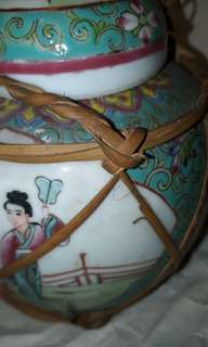 ANTIQUE CHINESE JINGER JAR 1905-1915-S  WITH LIDDED WILLOW PATTERN /AUCTION