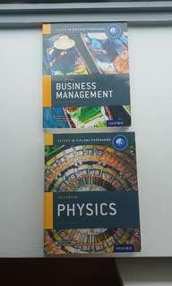 Business & Physics IB books
