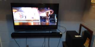 32 inch Sony Bravia Led Tv + Sony Bluetooth Sounbar with Subwoofer