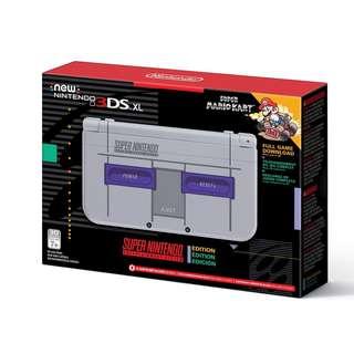 [IN-STOCK] Nintendo New 3DS XL - Super NES Edition + Super Mario Kart for SNES
