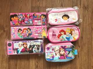 Assorted pencil boxes and cases