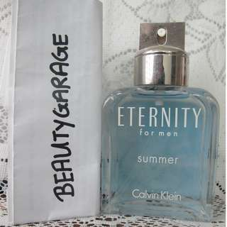 CLEARANCE Calvin Klein Eternity Summer 100ml EDT Men Perfume Unboxed CK !