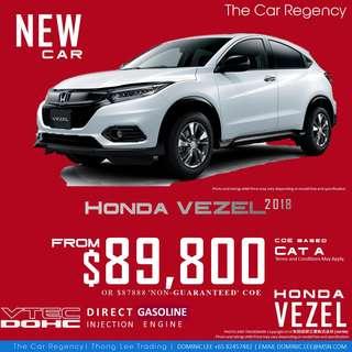 Honda Honda VEZEL / HR-V 1.5 ( NEW )( 2018 )( SUV ) ×TAG JAZZ SHUTTLE VEZEL CT MAZDA 3 NOTE AQUA VITZ SWIFT SHUTTLE CHR C-HR HRV