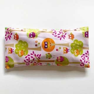 Bean Sprout Husk Pillow / Beanie Pillow , Fabric from USA ( 100% Handmade 100% Cotton , Premium Quality!) 15 x 30cm husks 150grams owls
