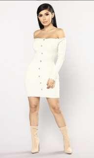 off the shoulder mini dress by FASHION NOVA