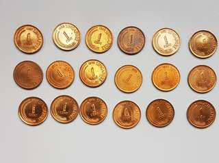 1 cts coins -1967- 1984