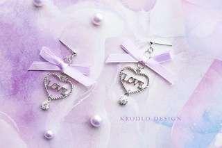 紫色系列耳環