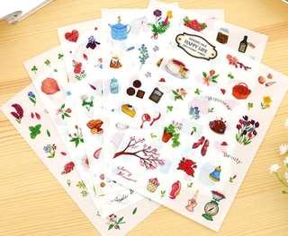 Garden and cafe sticker sheet