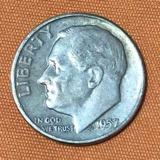 USA 1957D Dime (Silver)
