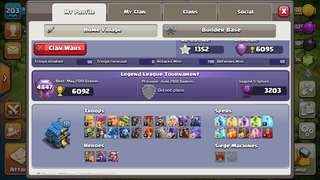 Clash of clans TH12 with BH8 (good lab) NC available