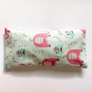Bean Sprout Husk Pillow / Beanie Pillow , Fabric from USA ( 100% Handmade 100% Cotton , Premium Quality!) 15 x 30cm husks 150grams elephants