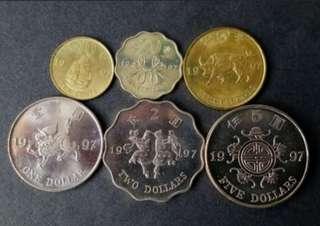 1997紀念硬幣(全6枚)