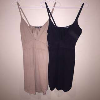 Boohoo Suede-Look Dresses