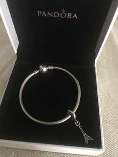 Pandora bangle with dangle charm