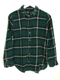 H&M Green Checked Shirt