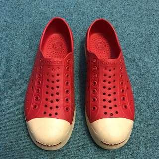 🚚 👟COQUI 紅色防水洞洞鞋 34/35號