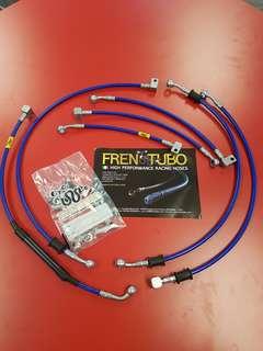 FRENTUBO steel braided brake hose for YAMAHA MT-09 ABS 17'-18'