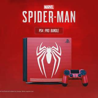 Spiderman Limited PS4 1TB Pro Console
