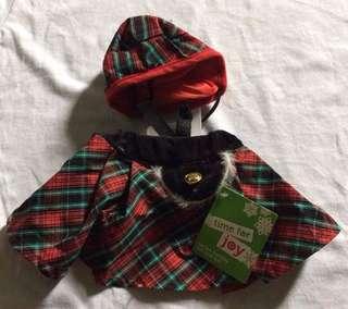 Tartan holiday kilt and hat
