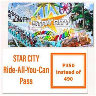 STAR CITY RIDE ALL YOU CAN (Friday, Saturday & Sunday only)